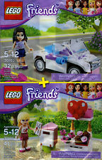 LEGO Friends #30103, #30105 - Emma's Car + Stephanie's Mailbox - 100% NEW / NEUF
