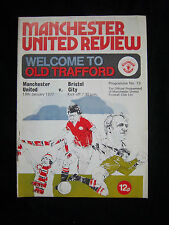 Orig.PRG   England 1.Division  1976/77  MANCHESTER UNITED FC - BRISTOL CITY FC !