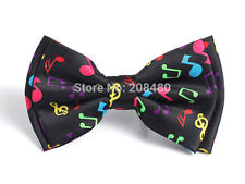 Unisex Multi Colour Musical Note Novelty Bow Tie - Brand New