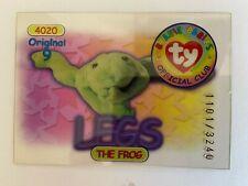 Rare Series 1 Clear - Original 9 Trading Card - Legs - Blue