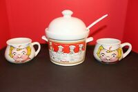 Campbell's Kids Through The Years Soup Tureen With Ladle & 2 Mugs