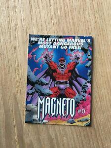 1993 Marvel Comics MAGNETO #0 - Promo Checklist Card