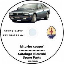 Maserati Coupe'.Catalogo ricambi,spare parts.Maserati 2.24,Maserati 222 e 222 SR