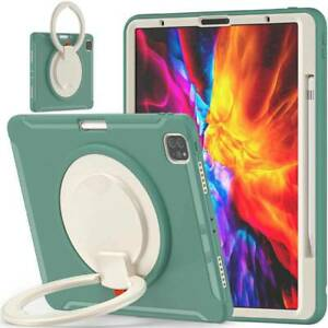 Hybrid Rubber Shockproof Rotating Case Cover for iPad Air 10.9 Pro 11 12.9 2021