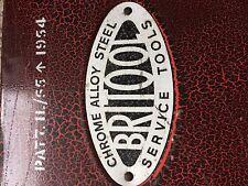 Vintage Britool Socket Set Box (Boîte à outils) vide marqué 1954