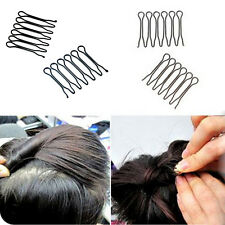 2pcs New Black Fringe Invisible Hair Clip Comb Hairpin Bobby Pin Headband