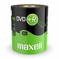100 x Maxell Blank Discs Recordable DVD+R 4.7GB DVDR 120 Minutes Video 16x Speed