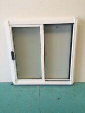 Aluminium Sliding Window White 600H x 600W Obscure Glass