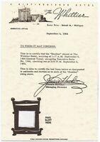 The BEATLES BED SHEETS Whittier Hotel Detroit 1964 MINT! Set of 4 + BONUS AD