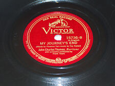 John Charles Thomas David And Goliath, Hollister My Journey's End, Tours 78 rpm