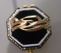 Women's Gold Ring 9ct Gold Patterned Band Weight 2.7g Size V Stamped