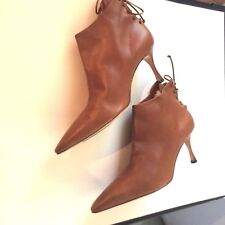Manolo Blahnik Ankle Boots, Cognac,  41 / 10