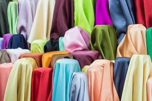 "10 Yards Satin Fabric 60"" Sash TableCloth Runner Overlay 22 COLORS Wholesale"