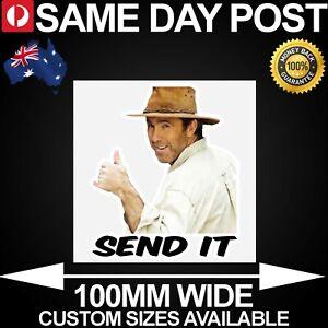 RUSSELL COIGHT SEND IT W/ SQ 100mm Wide Vinyl Car Sticker Decal Funny Meme Cheap