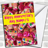 Love Heart Sweets Anniversary Personalised Card