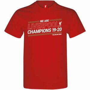 LIVERPOOL RED YOUTH T-SHIRT 2019-20 PREMIER LEAGUE CHAMPIONS OFFICIALLY LICENSED