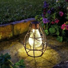 Pack of 2 Firefly Lanterns Hanging Copper LED Firefly Lights Rustic Garden Light