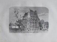 Originaldruck aus 1880 - Tempel von Ambernath, Indien - old print
