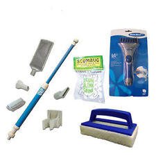 More details for hot tub cleaning tool kit spa vac scum bug tub scrubber filter comb clean tubs