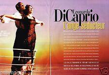 Coupure de Presse Clipping 1998 (8 pages) Leonardo DiCaprio ange séducteur