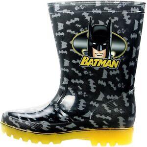 BOYS BATMAN DC COMICS WELLYS RAIN WELLIES WELLINGTON BOOTS KIDS UK SIZE 8-2