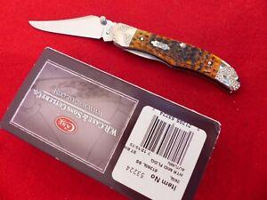 Case XX USA 61265L Hunter Mid size MIB autumn bone custom filework knife dg