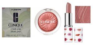 Clinique Cheek Pop 01 Ginger Pop and Pop Lipstick 02 Bare Pop - RRP $80
