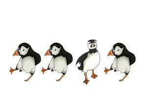 Distracted Puffin Limited Edition Print By Sarah Jane Holt
