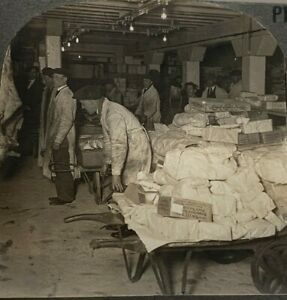 Vintage Stereoview Photograph Meat Packing Room Occupational Keystone