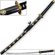 Frostbite Katana Japanese Tosho Sword Black & Gold Supreme Finish Snow Themed