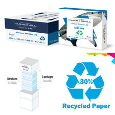 Great White 30% Recycled Printer Paper 3 Ream 8.5x11 1500 Sheets Smooth Finish