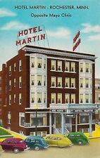 Hotel Martin Opposite Mayo Clinic Rochester Mn Postcard