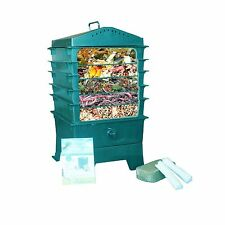 VermiHut 5-Tray Worm Compost Bin Dark Green - New Free Shipping