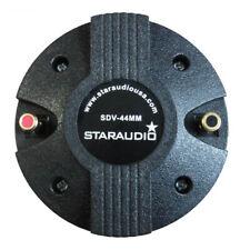 Staraudio 44Mm Titanium Compression Screw-On Dj Pa Speaker Horn Driver Tweeter