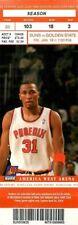 Ticket Basketball Phoenix Suns 2004 - 1/16 - Golden State Warriors