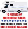 Motorhome graphics star stripes stickers decals camper van horsebox caravan mg3