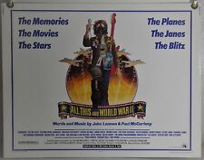 ALL THIS AND WORLD WAR II ROLLED ORIG HALF-SHEET MOVIE POSTER BEATLES (1976)