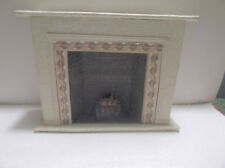 Miniature Doll House Handcrafted Fireplace