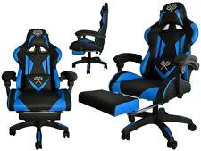 Gaming Stuhl Bürostuhl Schreibtischstuhl Fußstützen Schwarz-blau/rot/orange 8978