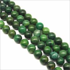 Lot de 30 Perles Pierres Naturelles Jade Africaine 8mm