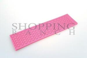 Love Heart Cake Lace Wedding Silicone Mould Mat Decoration Embosser