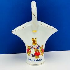 Peter Rabbit Flower trellis vase Beswick Beatrix Potter Warne basket Mrs decor