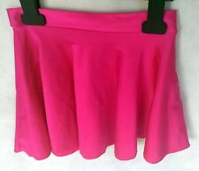 Girls Elite Circular Dance Skate Skirt - Size M (Age 5-7) Fuchsia Pink/ Purple
