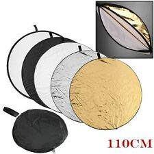 5in1 110cm Light Mulit Collapsible disc for photography Panel Reflector diffuser