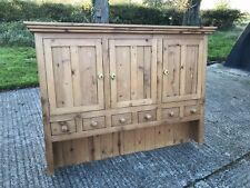 Vintage Solid Pine Glazed Dresser Top Kitchen Wall Cupboards