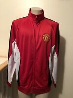 Manchester United Soccer Football Track Jacket Men's Size L NEW