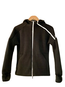 Adidas, Climalite Hooded Zipped Jacket, For Boys 11-12 Years In Black