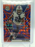 🔥🔥2020 Panini Mosaic Zack Moss Blue Red Reactive Prizm Rookie Bills RC SP