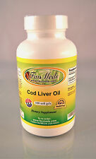 Cod Liver Oil 1250mg, joint pain, anti-oxidant, heart - 100 capsules