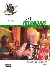 Accordéon diatonique Tablatures 20 airs Irlandais vol.2
